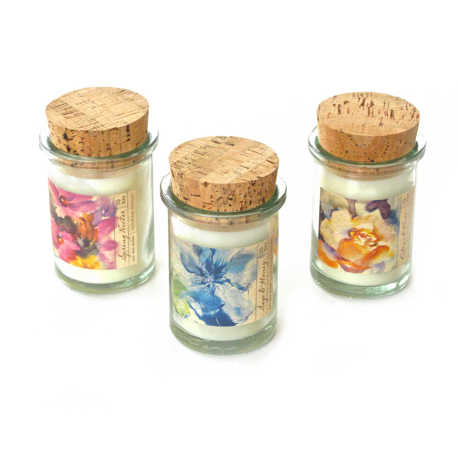 Watercolor Field Jars