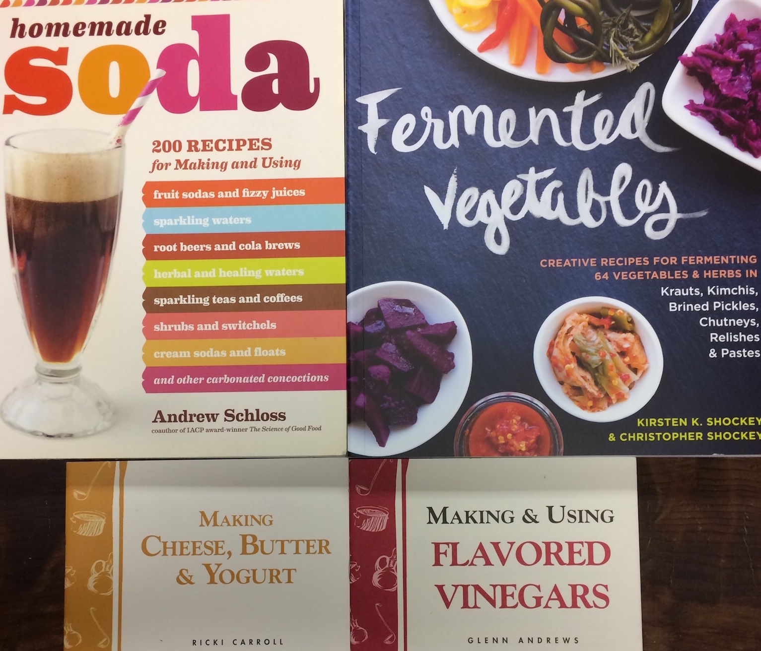 Vinegar, Cheese, Fermentable Foods, and Soda Making *coming soon*