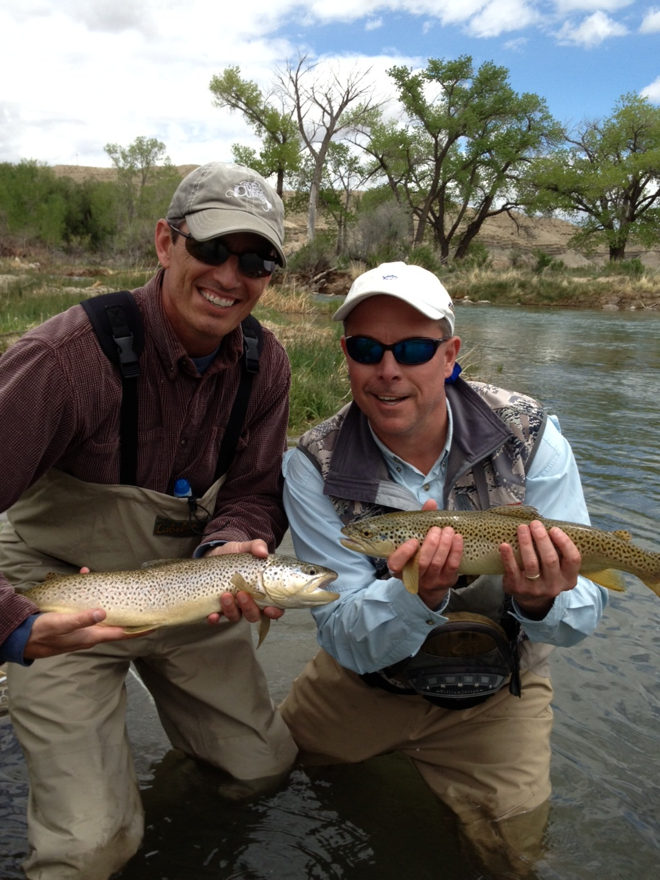 Brandon and Tommy with a nice double hook up on one of our rivers x streams!