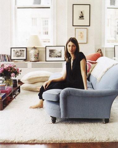 Sofia Coppola on a George Sherlock Two-Seater. via Habituallychic.blogspot.com