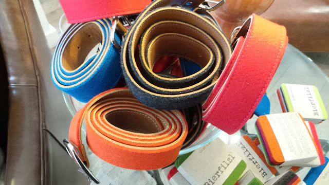 Colorful Felt Belts at Peaks & Rafters