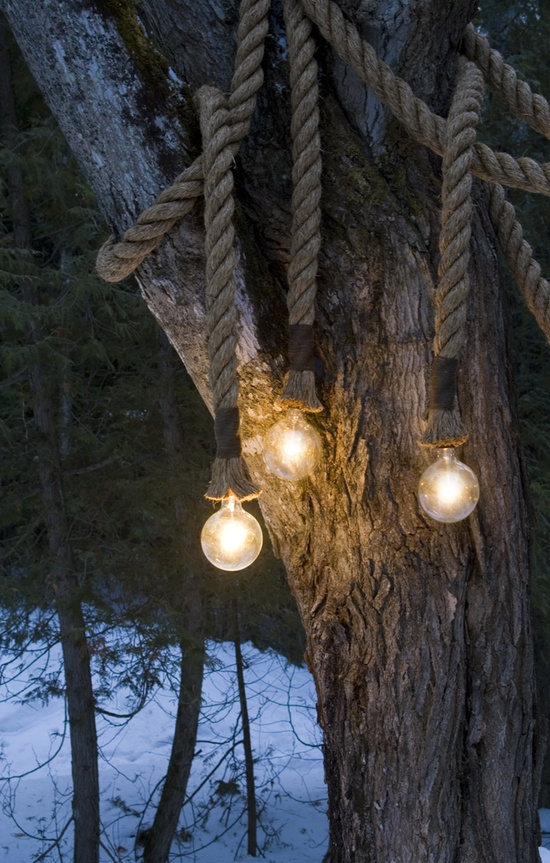 Outdoor Rope Lights,  Atelier 688 via Etsy