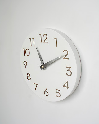 Modern Numbers Clock , Uncommon @ Etsy - $65