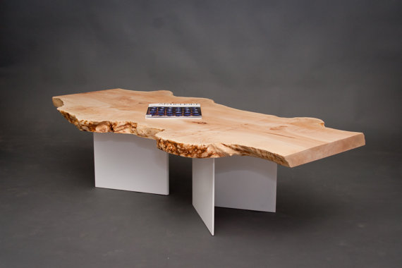 Brice Maple Burl Long Coffee Table  - Elpis Works ($1,375), Etsy.com