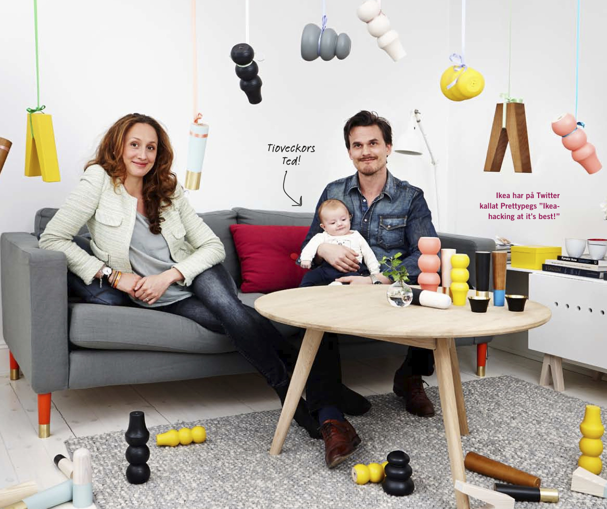 Pretty Peg founders Ana Cagin and Mikael Söderblom (via  prettypegs.com )