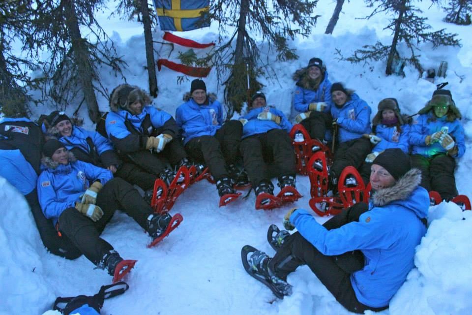 Snowshoe party at Camp Sweden-USA (Photo by Hana Chatila. All rights reserved.)