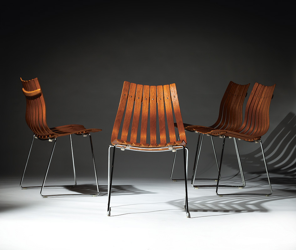 Scandia Jr. Chairs by Hans Brattrud (1960), part of the Norwegian Icons collection.
