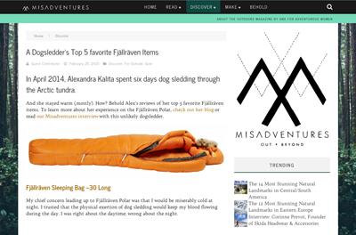 Featured in the February 2015 issue of misadventuremag.com