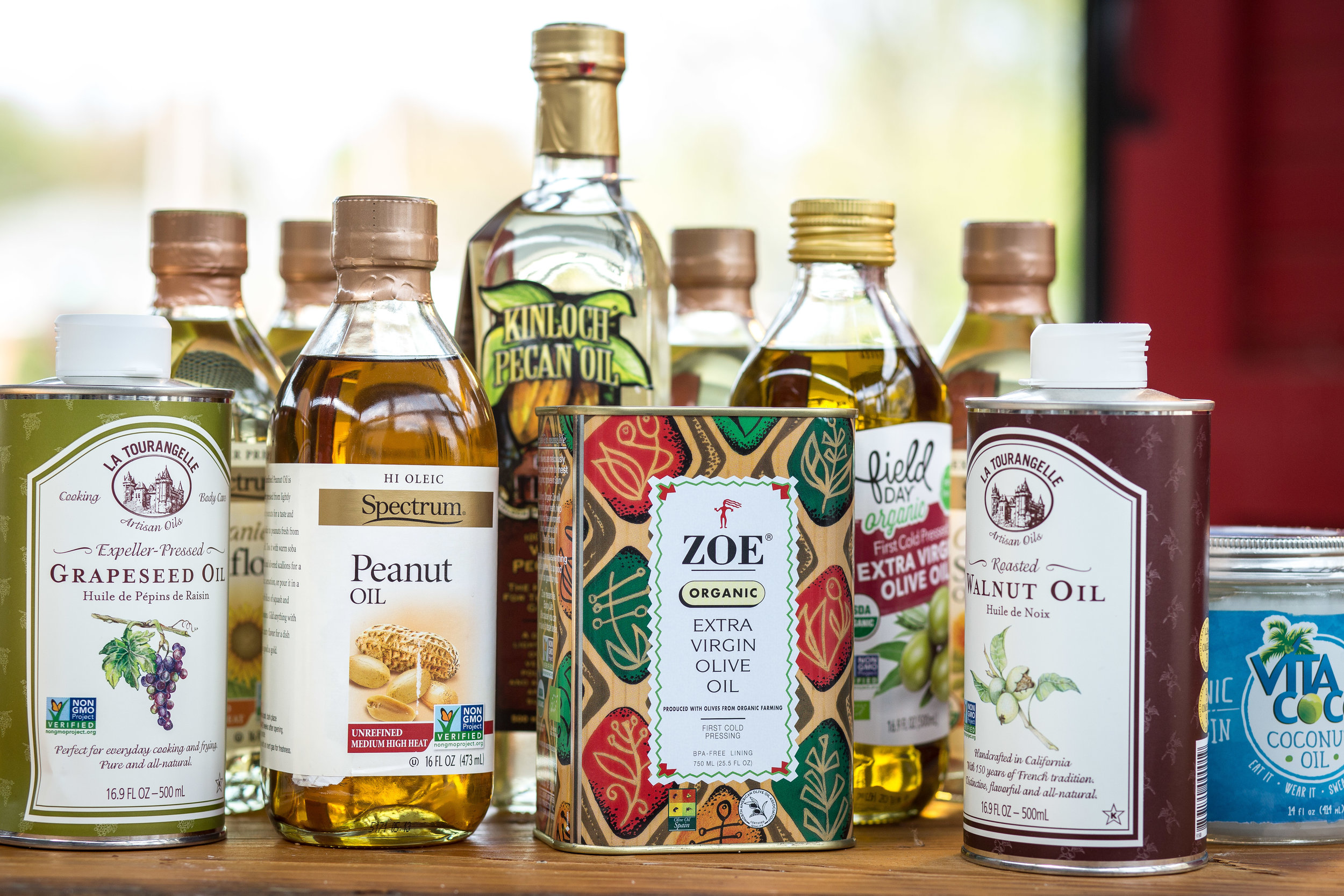 Find these varieties of organic and all-natural oils and more at Midtown Market.