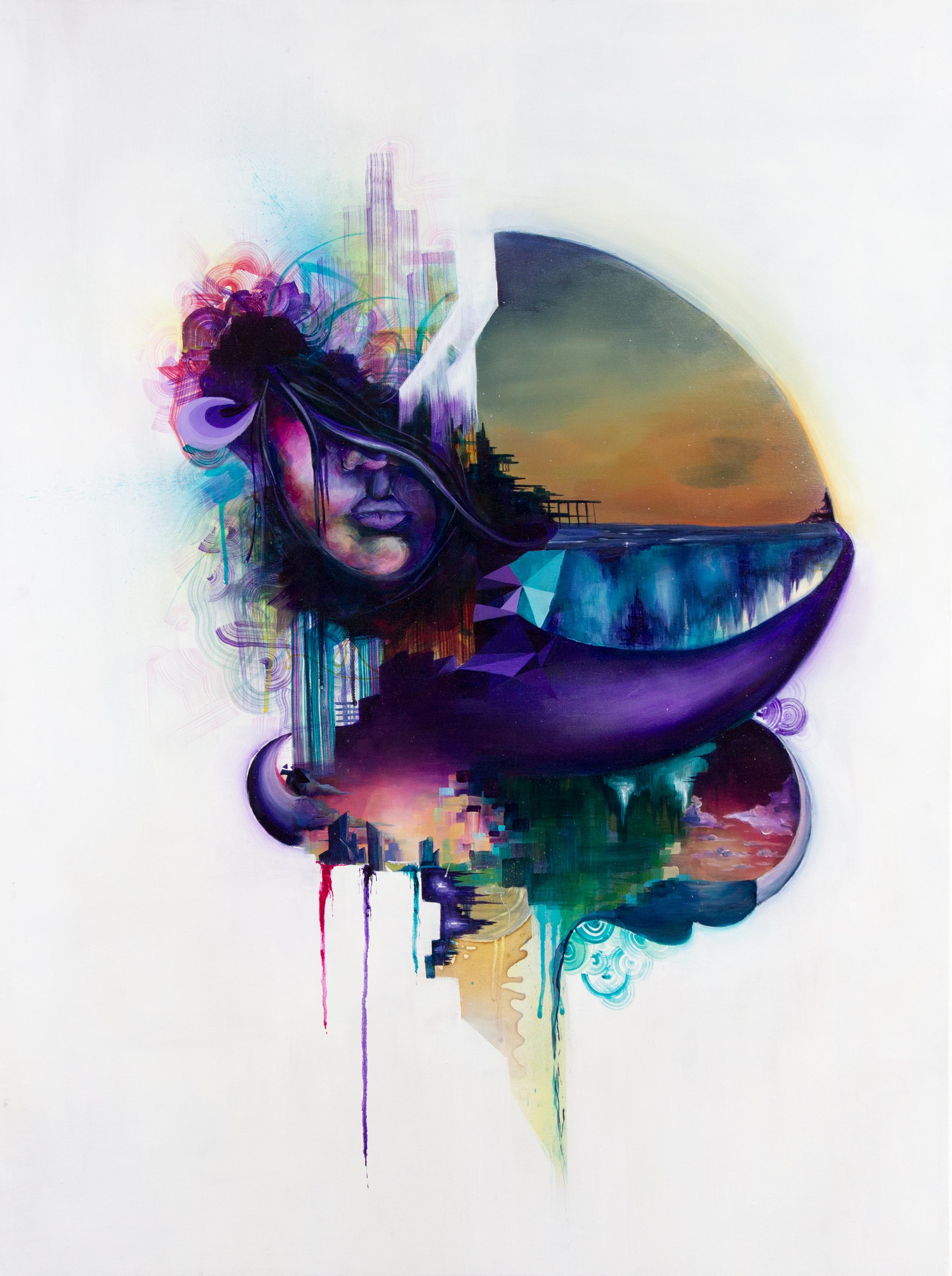 Acrylic & Spray Paint on Canvas// 76cm x 101cm// 2012.