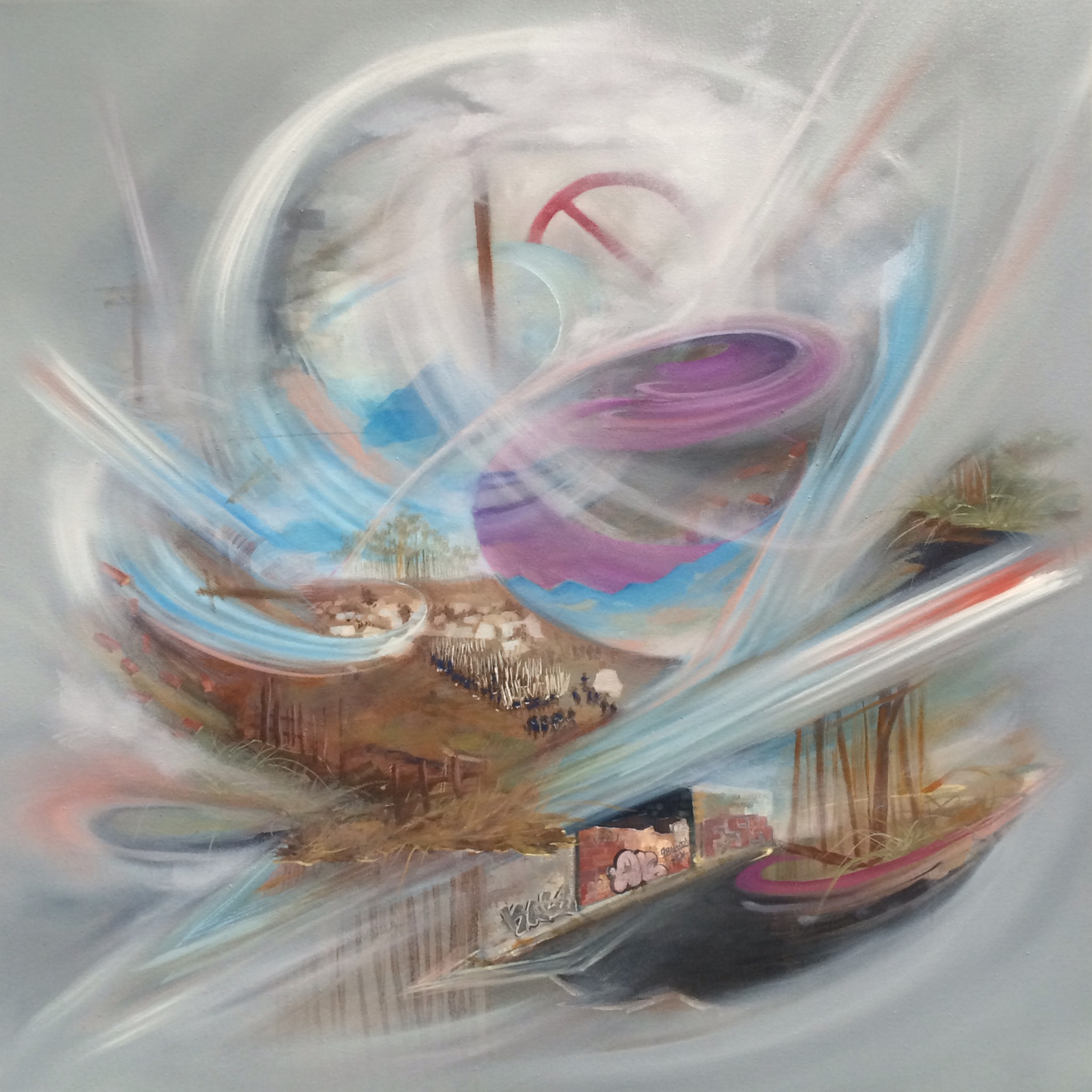  60 cm x 60 cm  Oil on Canvas  2014