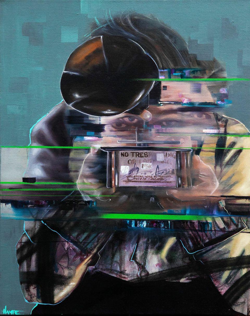  Oil and Spraypaint on Canvas  40cm x 51cm  2014 