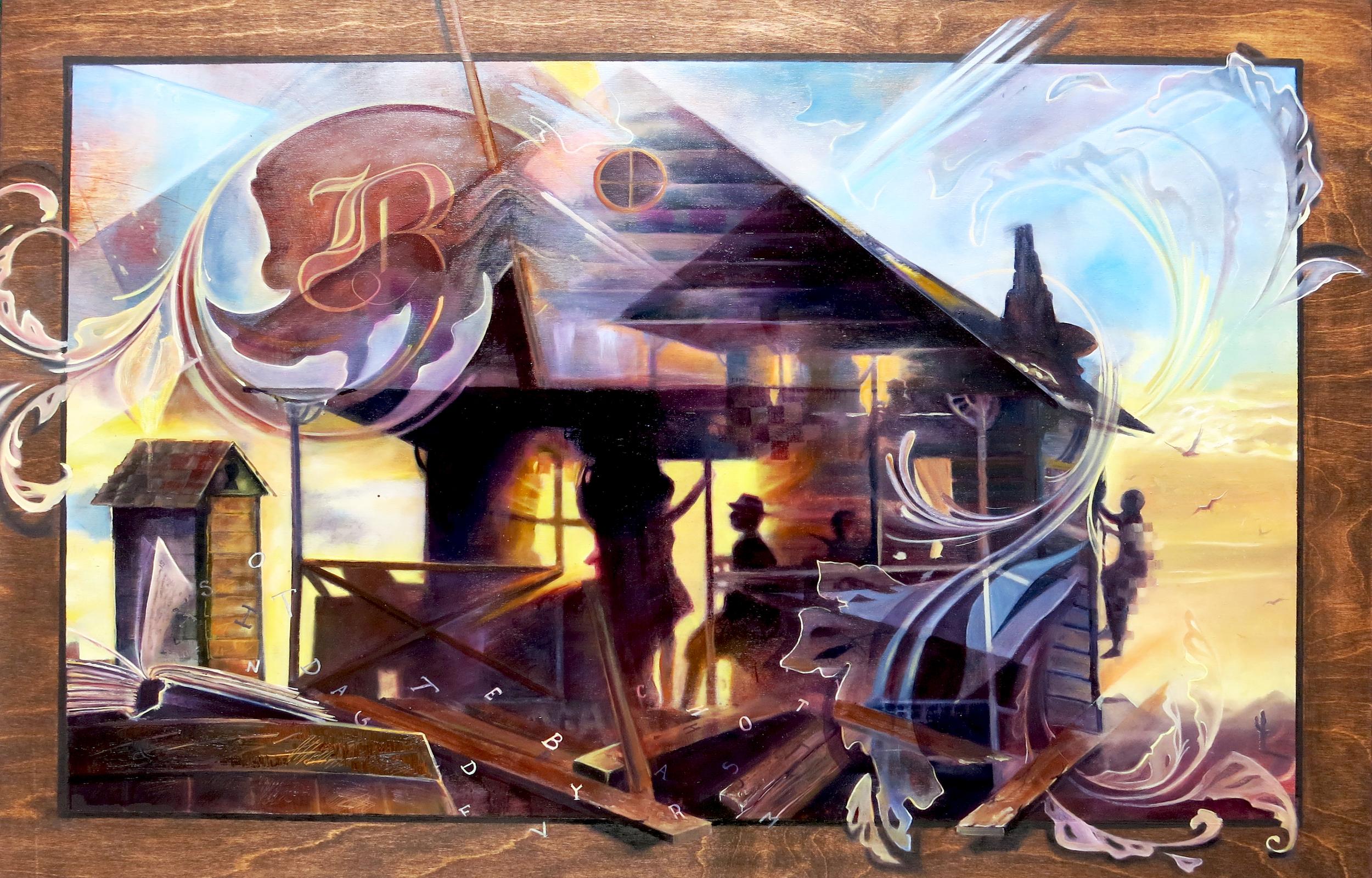 "Collaboration with Rachel Mandala |Oil on Panel||24"" x 36""||2015|"