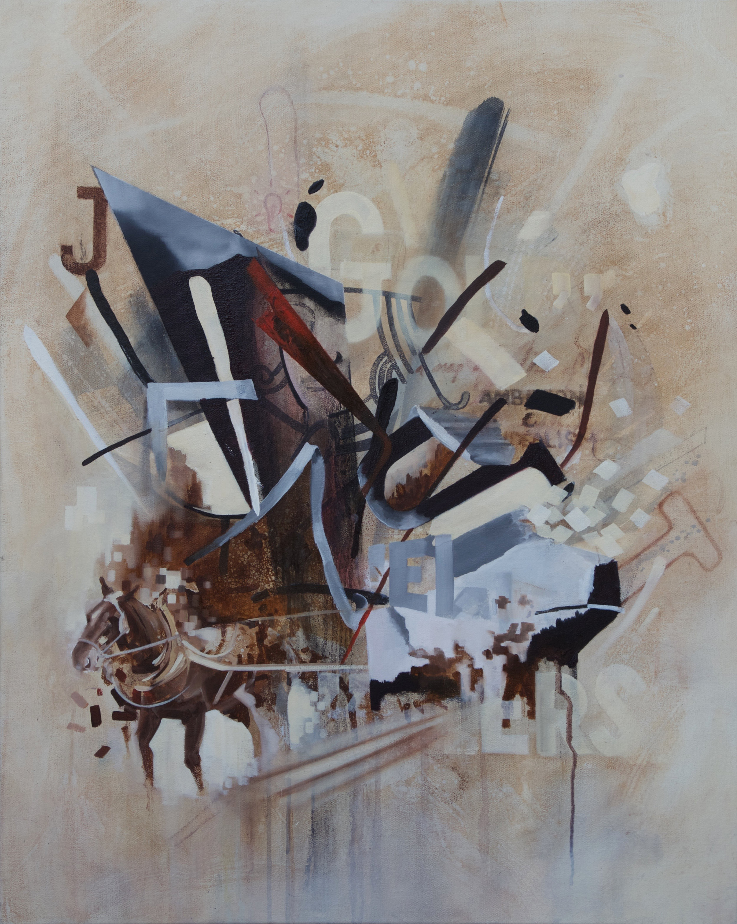 "Jack of Diamonds  Oil on Canvas  24""x30"""