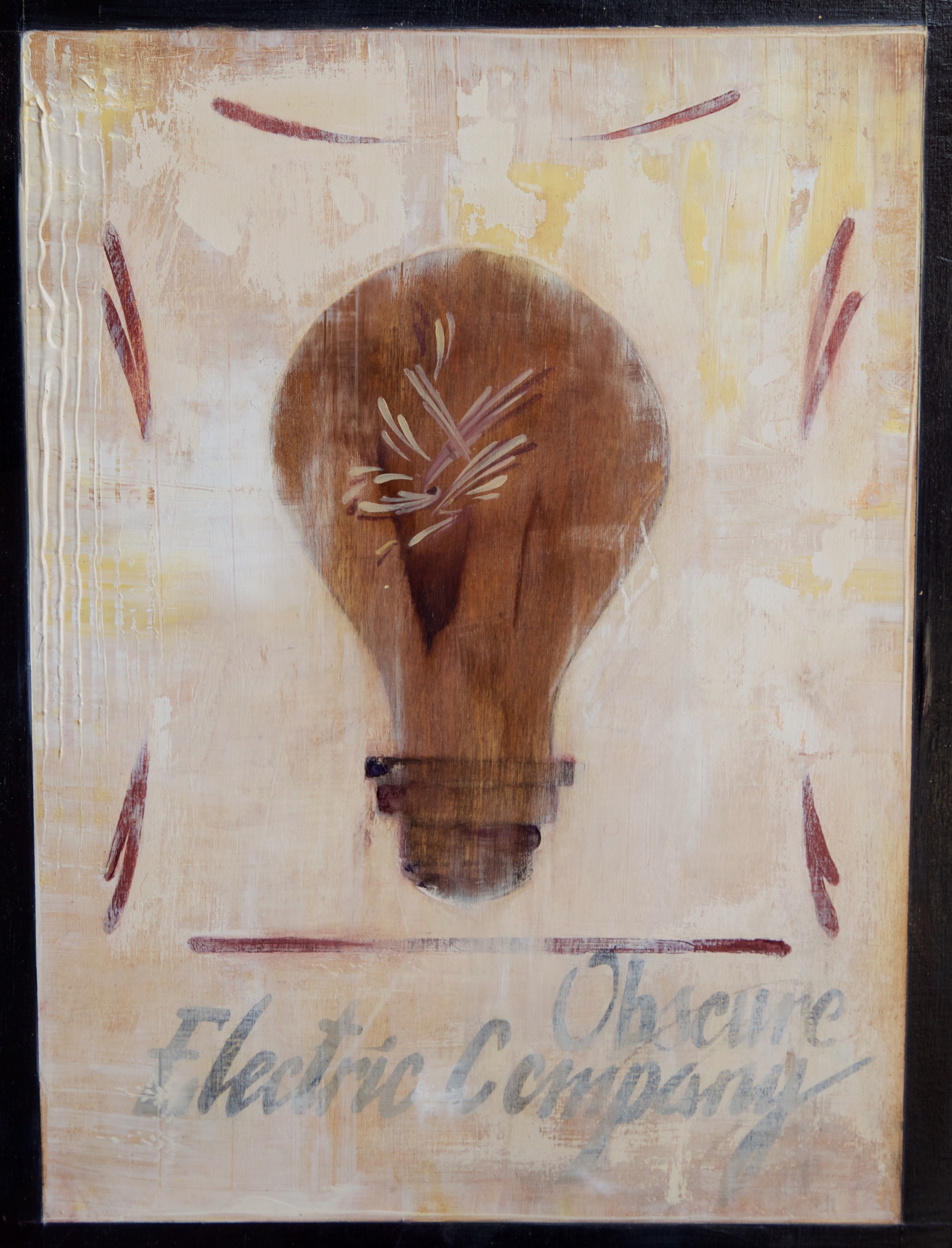 """The Obscure Electric   Oil on Panel   9"""" x 12"""""""