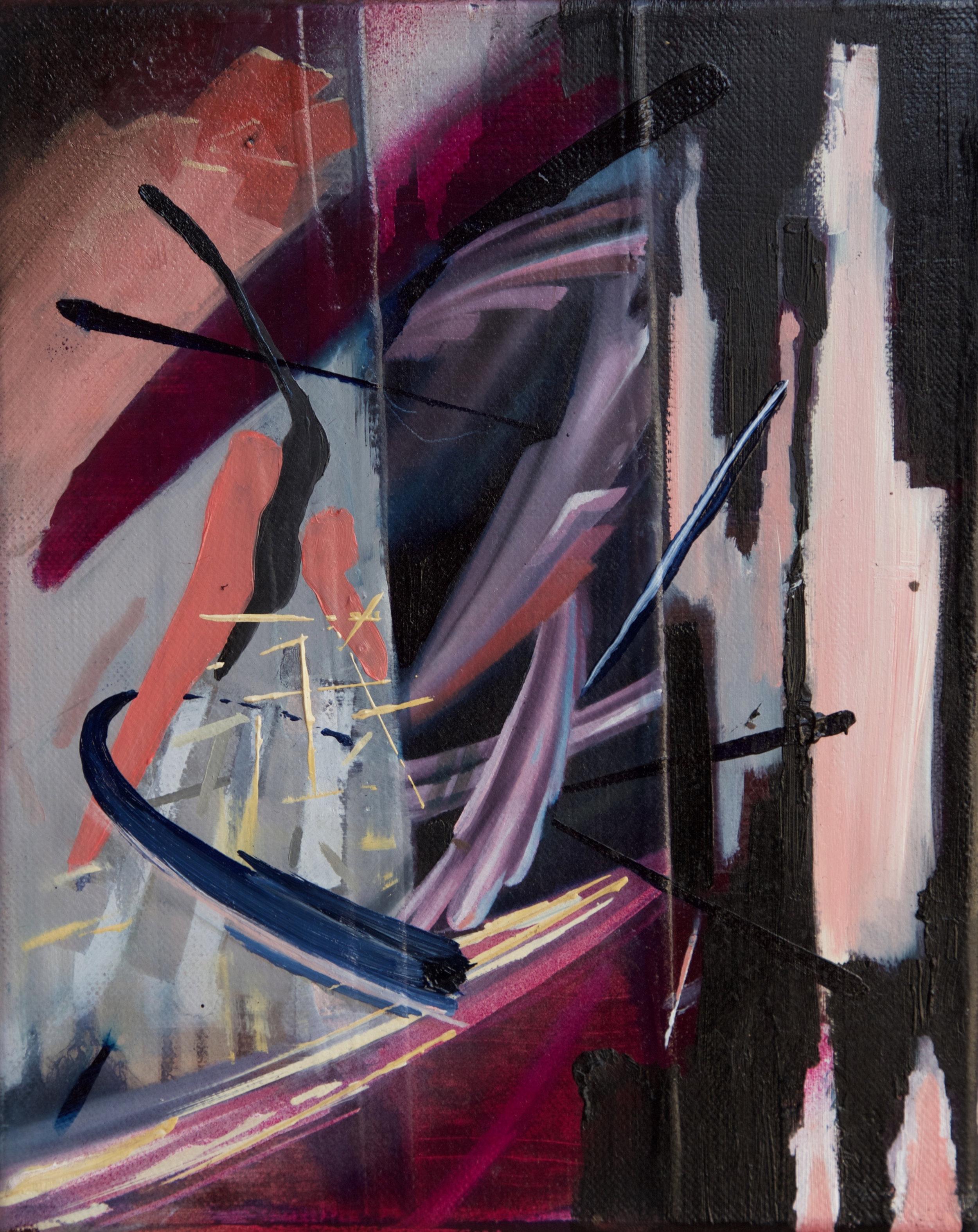 "Menage a Trois  Oil on Canvas  8"" x 10"""