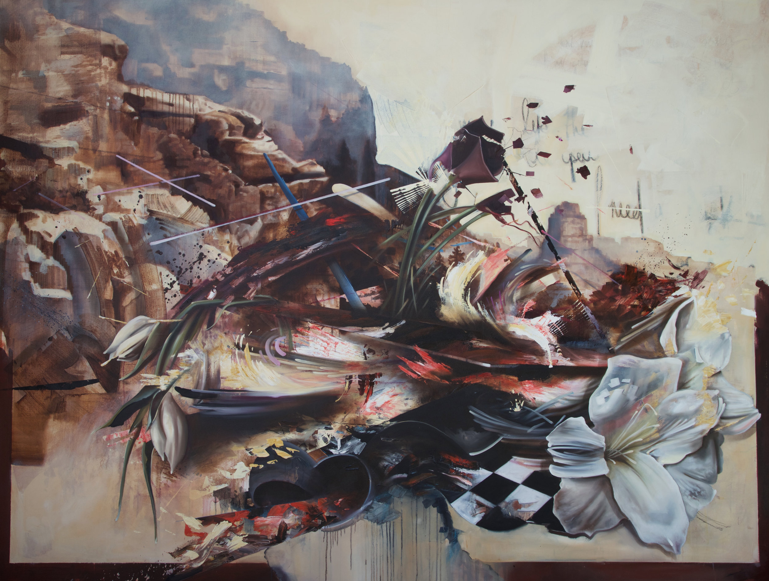 "Plethora    Oil on Canvas    72"" x 96"""