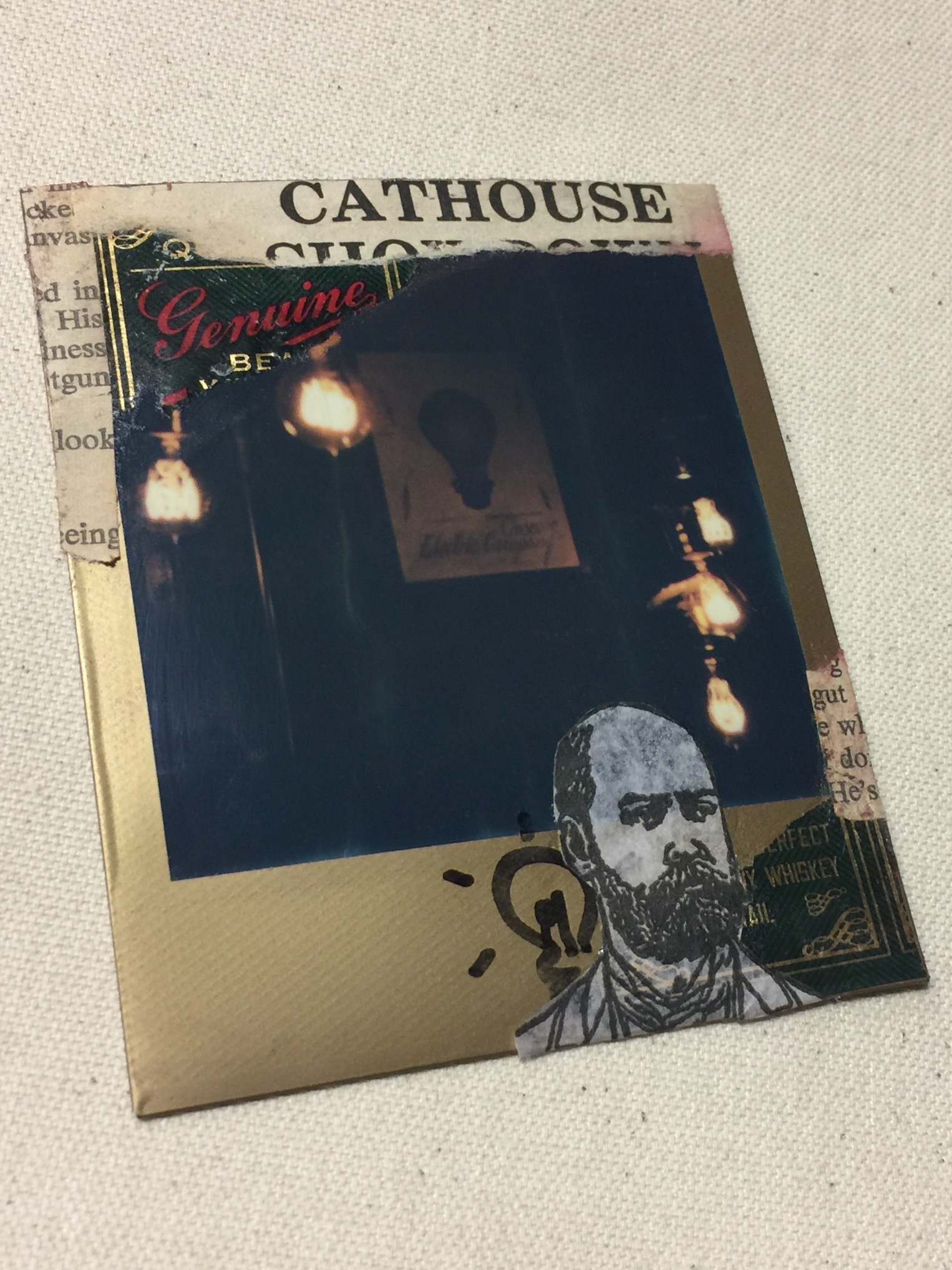 Cathouse Blues   Mixed Media