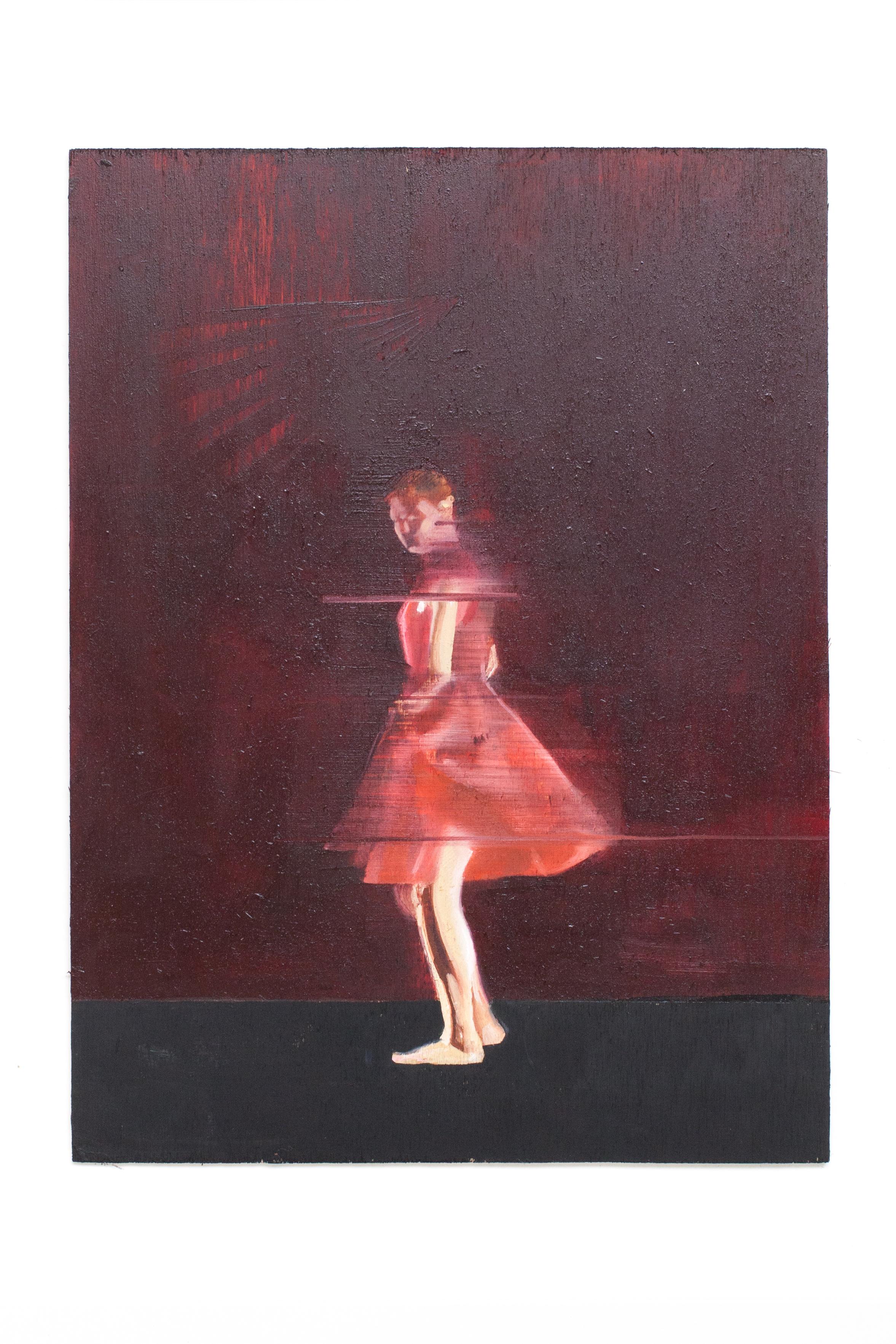 """La vie en Rose. Oil on Panel. 9"""" x 12"""""""