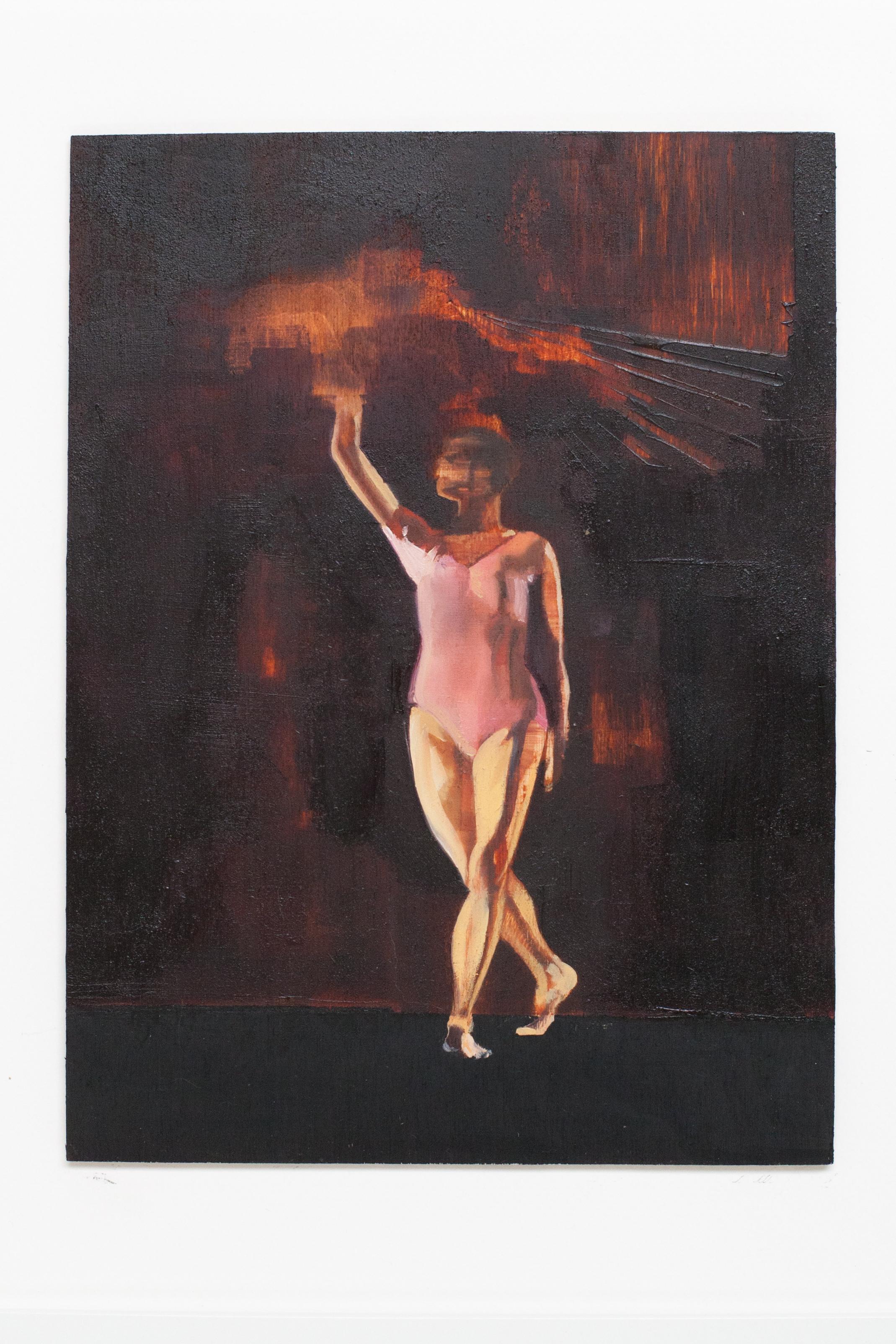 """La Liberte. Oil on Panel. 9"""" x 12"""""""