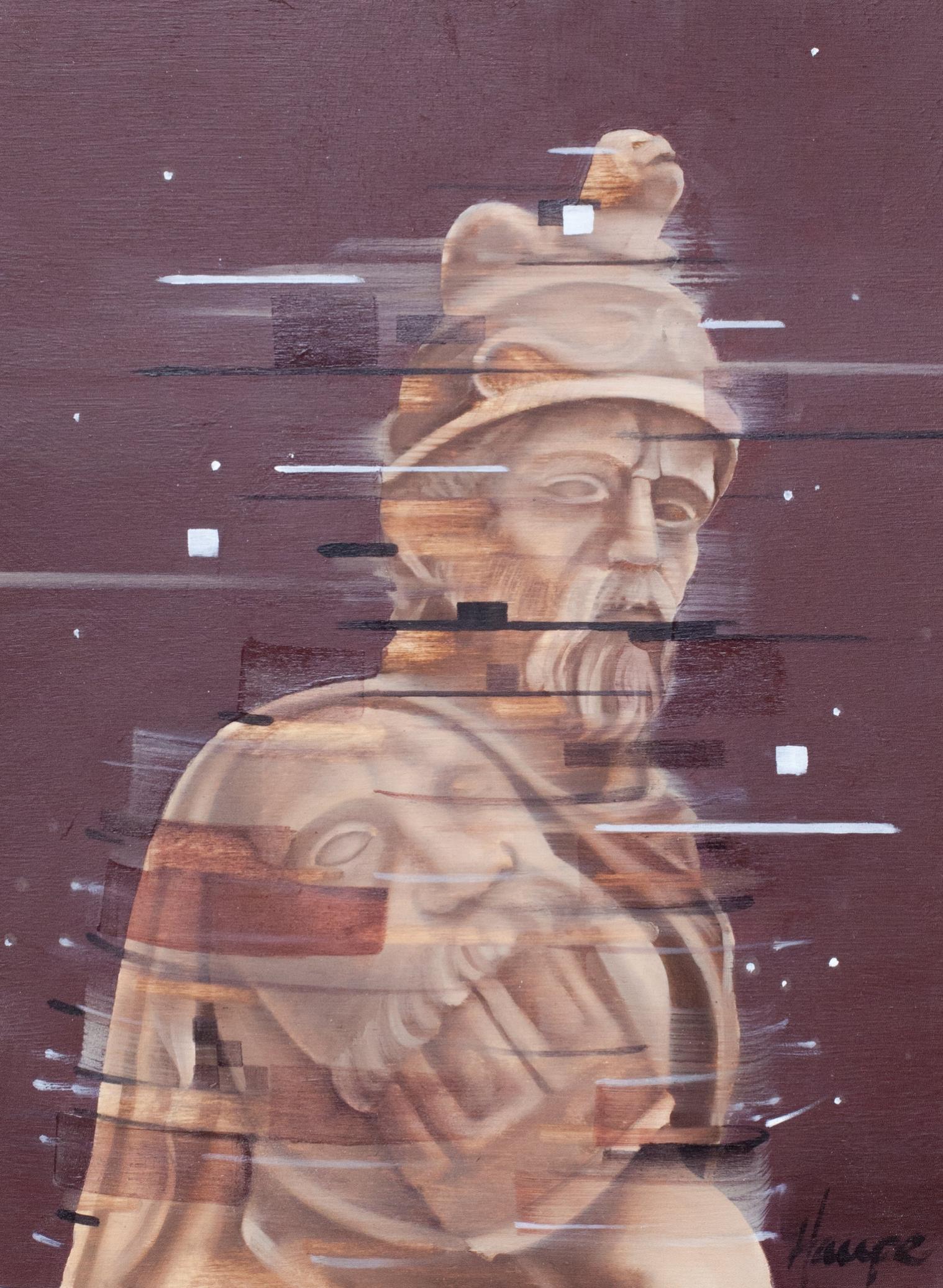 """Mars. Oil on Panel. 9"""" x 12"""""""