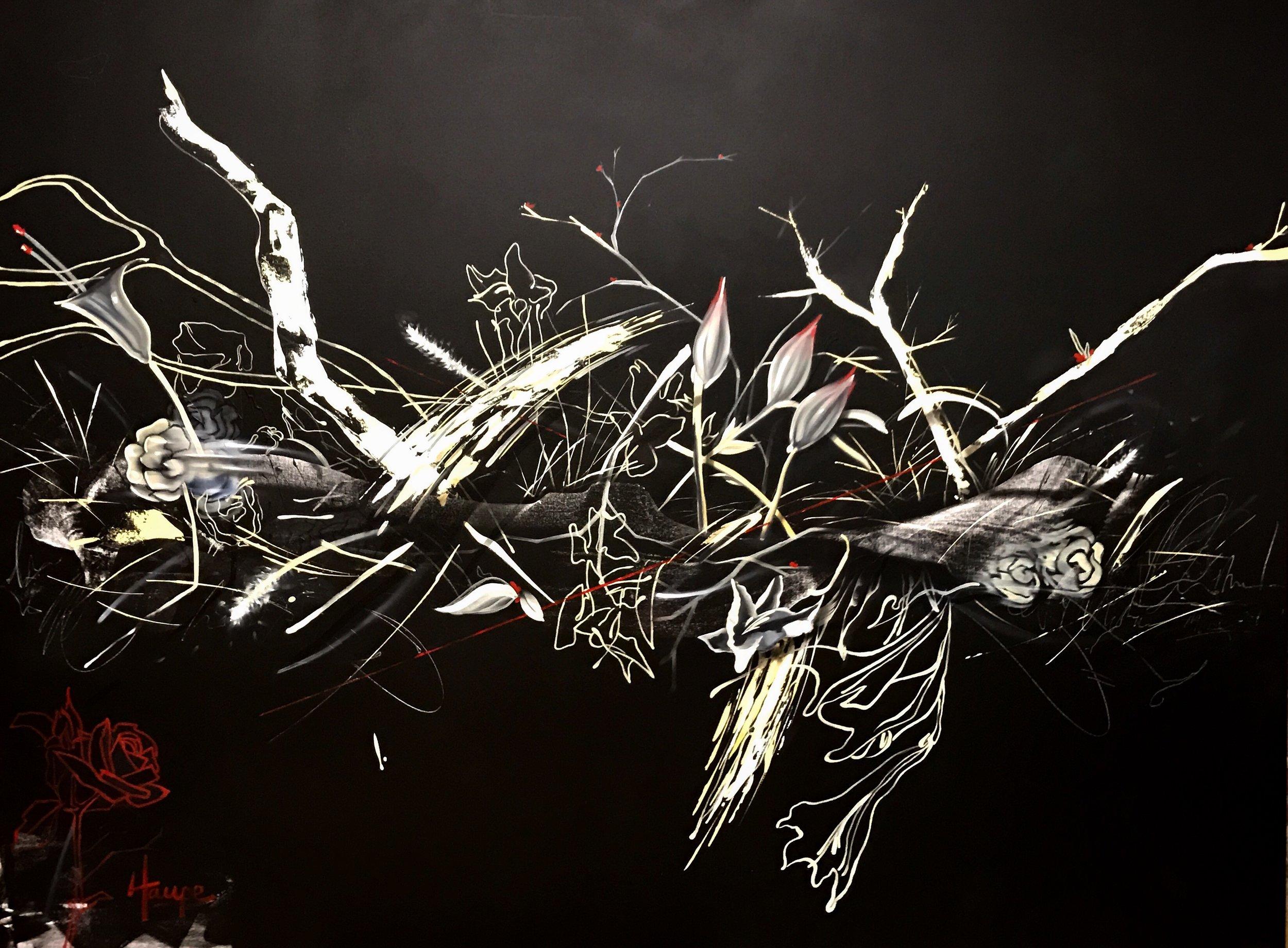"Wabi Sabi | Acrylic & Oil on Canvas | 72"" x 96"""