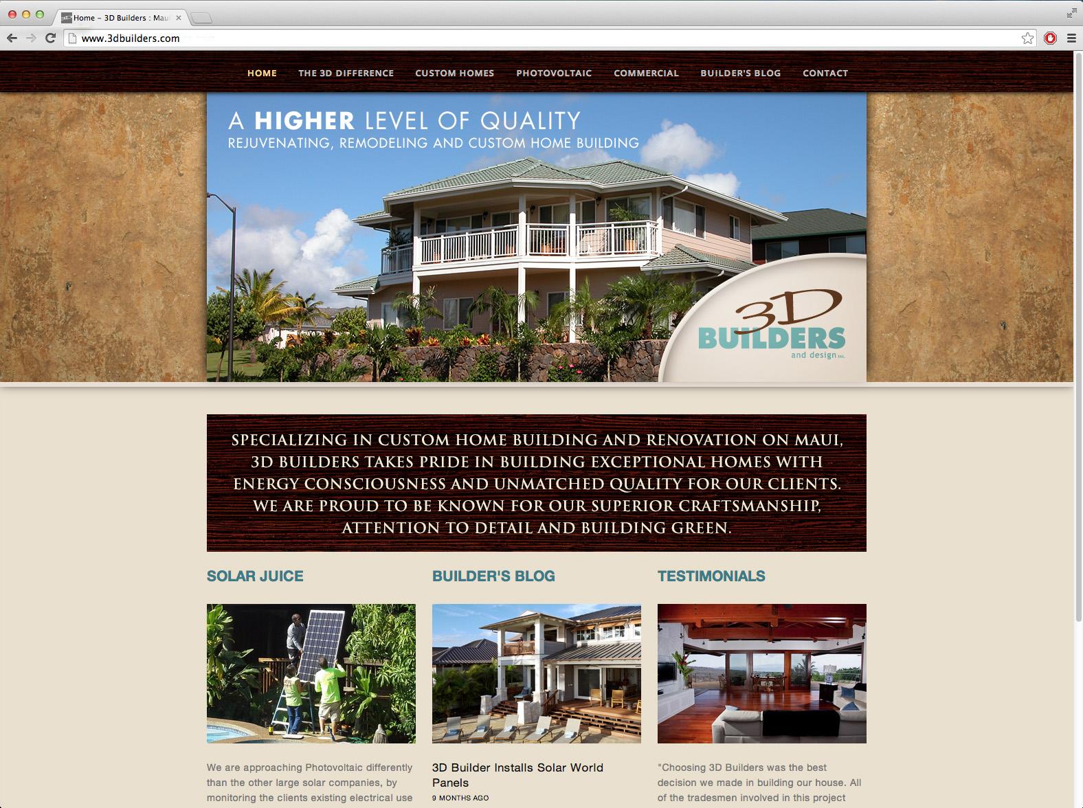 Update 3D Builders website built for 2014