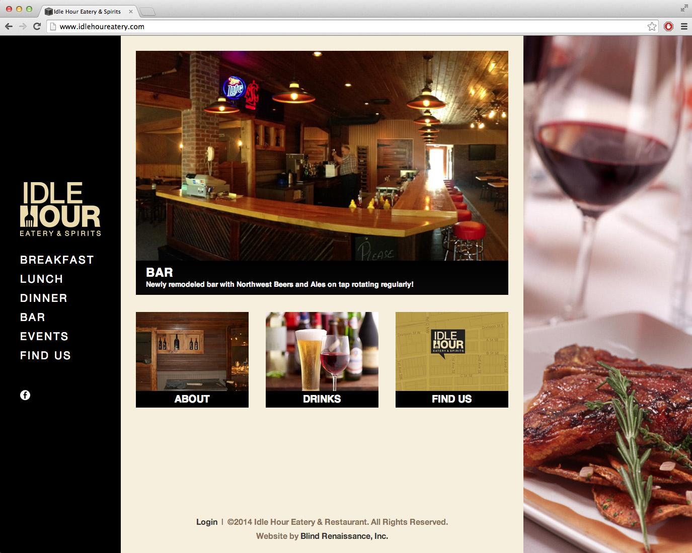 Homepage of www.idlehoureatery.com