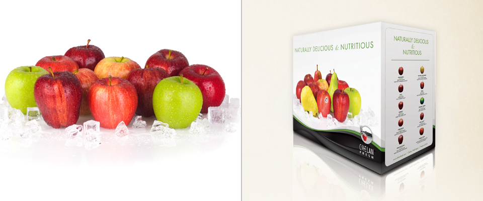 Fruit on White Ice
