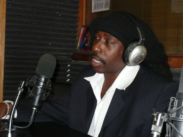 Deon Estus looking hot during a radio interview.jpg