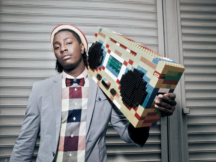 Mike Taylor looking hot with the LEGO boom box.jpg