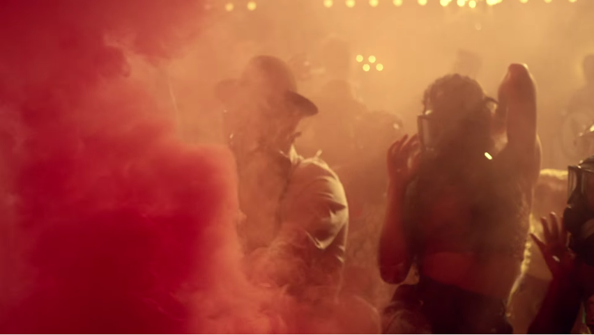 the big bad NYPD poison tear gassing all of the wannabe 1940s hipsters in Jidenna's club in the Knickers video.jpg