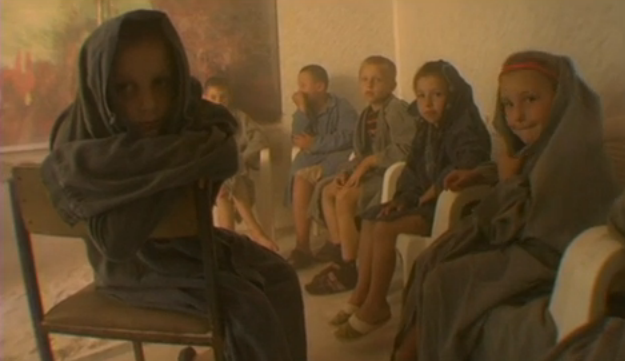 Asthmatic children in a halotherapy room in Solotvyno, Ukraine.