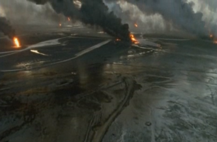 A still image from Herzog's  Lessons of Darkness