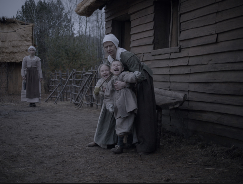 Anya Taylor-Joy, Kate Dickie, Elie Grainger, and Lucas Dawson in Robert Eggers' The Witch. (2015)