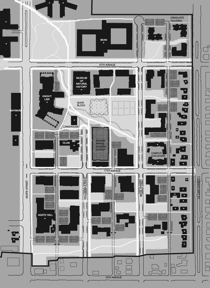 UO East Campus Open Space Framework Plan
