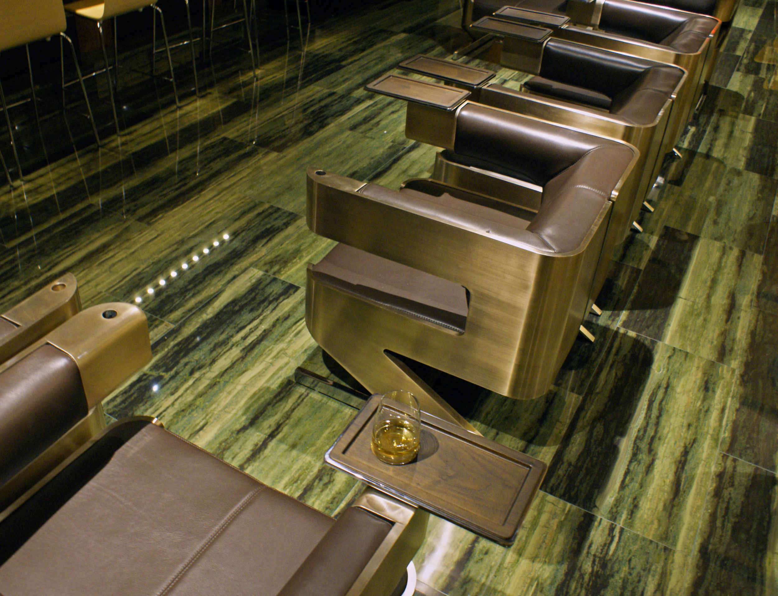 The Bronze Chair that started it all. Each comes with detachable stainless steel tasting tray. The perfect companion to the pool table..