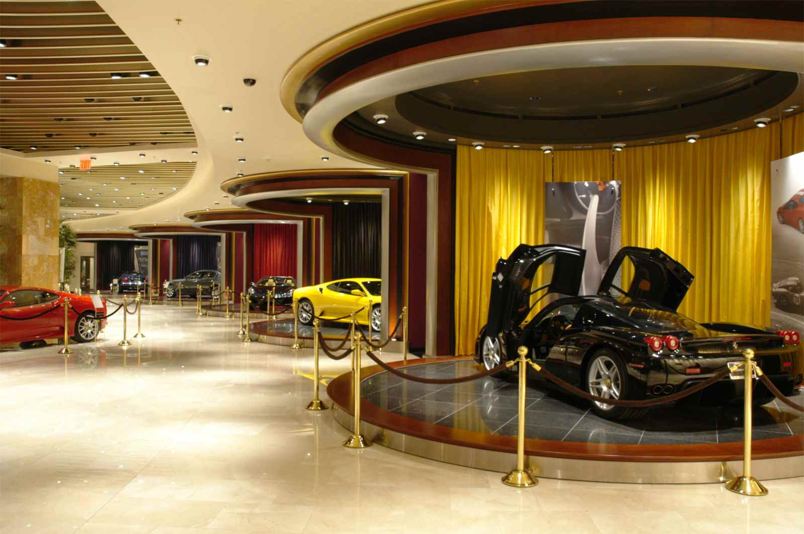 Wynn/Penske Ferrari Showcase as it opened in the Wynn Resort in Las Vegas.