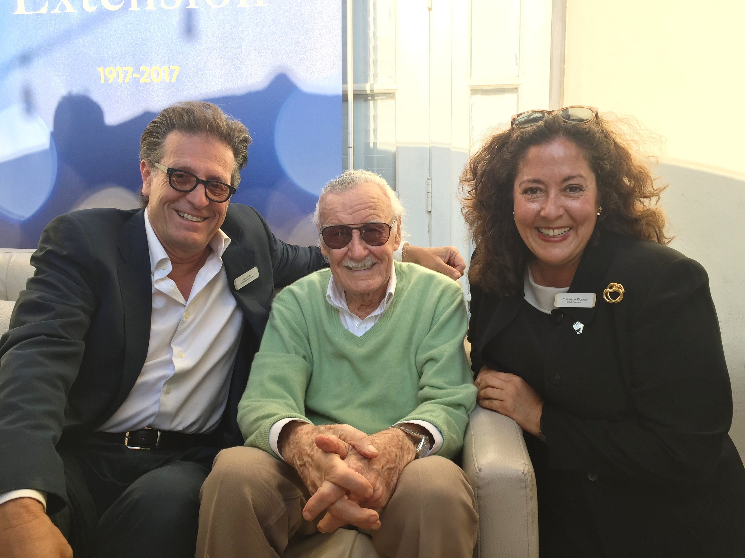 Eddie Sotto, Stan Lee, and Rosemarie Piccioni.