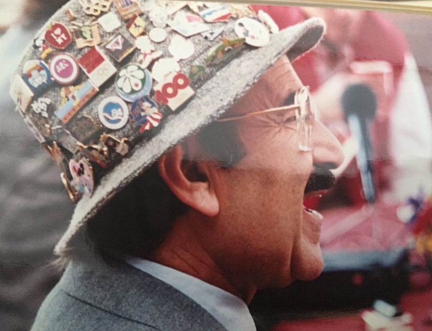 Donning his legendary hat of pins, Marty was a fan as well as a leader.