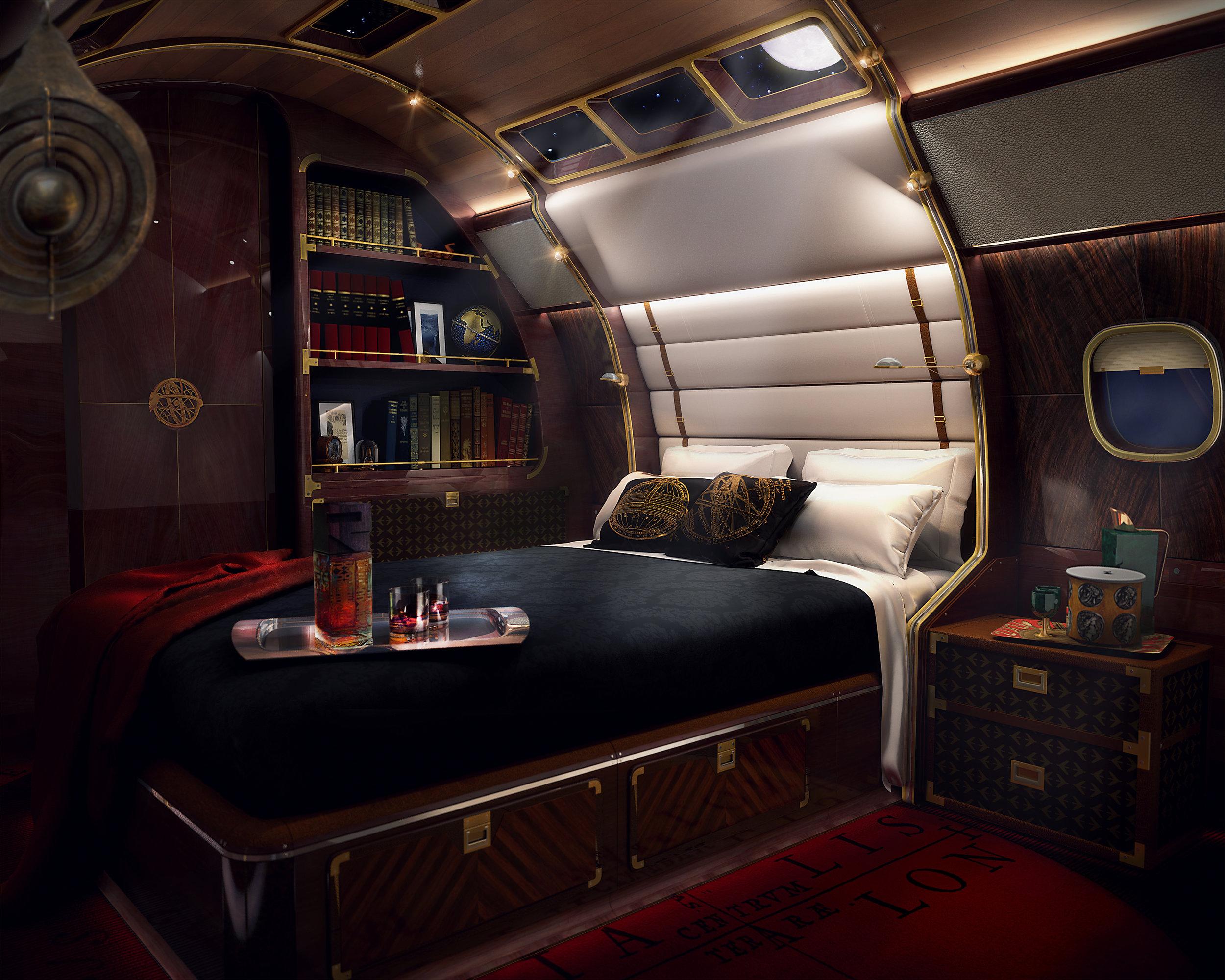 Skyacht master bedroom