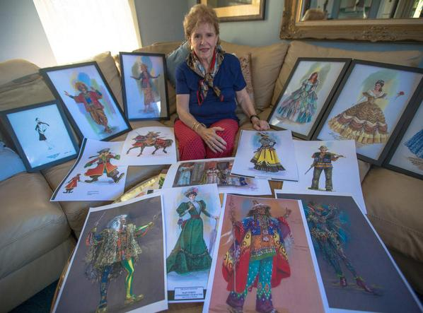 With her work from Walt Disney World Entertainment and costuming.