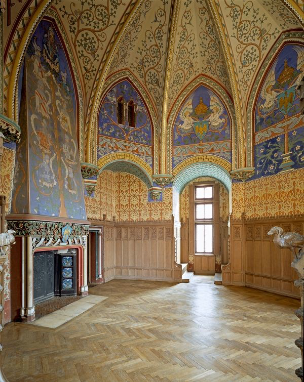 Chateau Pierrefonds interior as reimagined in regal splendor. Stunning and you should see it.