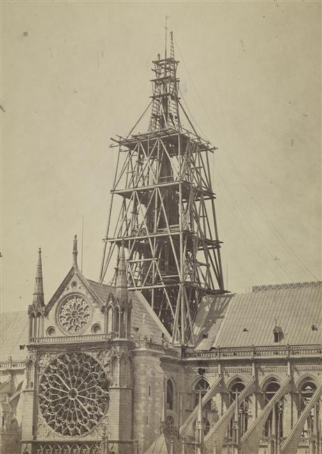 1840's construction of the spire addition.