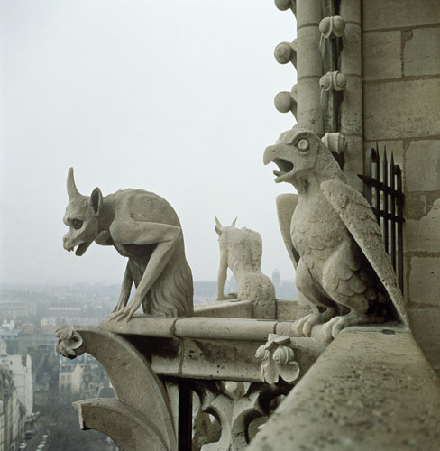 The sinister Gargoyles added by Voillet-Le-Duc have become souvenirs to many. Very theme park.
