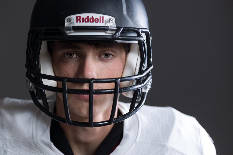 Kansas City Senior Photographer | High School Seniors | Football Portraits | Athletes | Studio Photographer | Nighttime Sports Photography - 03.jpg