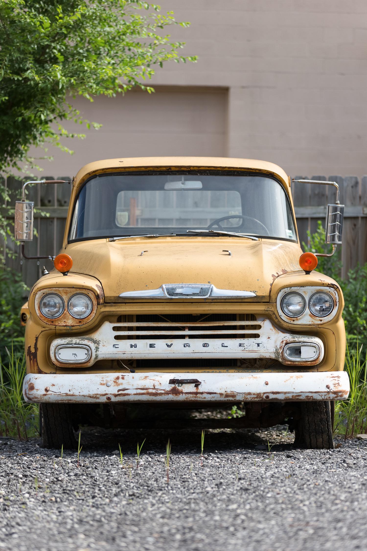 yellow 1958 chevrolet truck rusty truck | Anthem Photography | wwww.anthem-photo.com | 001.jpg