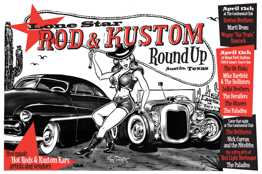 Artwork for the first Round Up by Von Franco