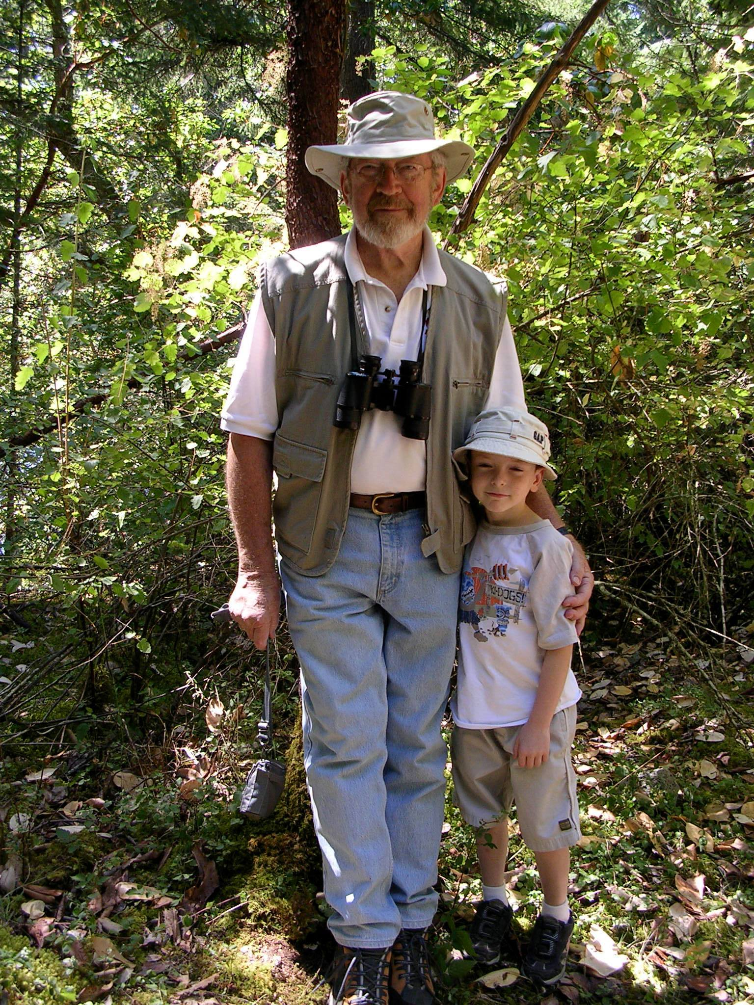 Probably one of my favorite pictures. Dad with The Elder Spawn, I think around 2002 ish.