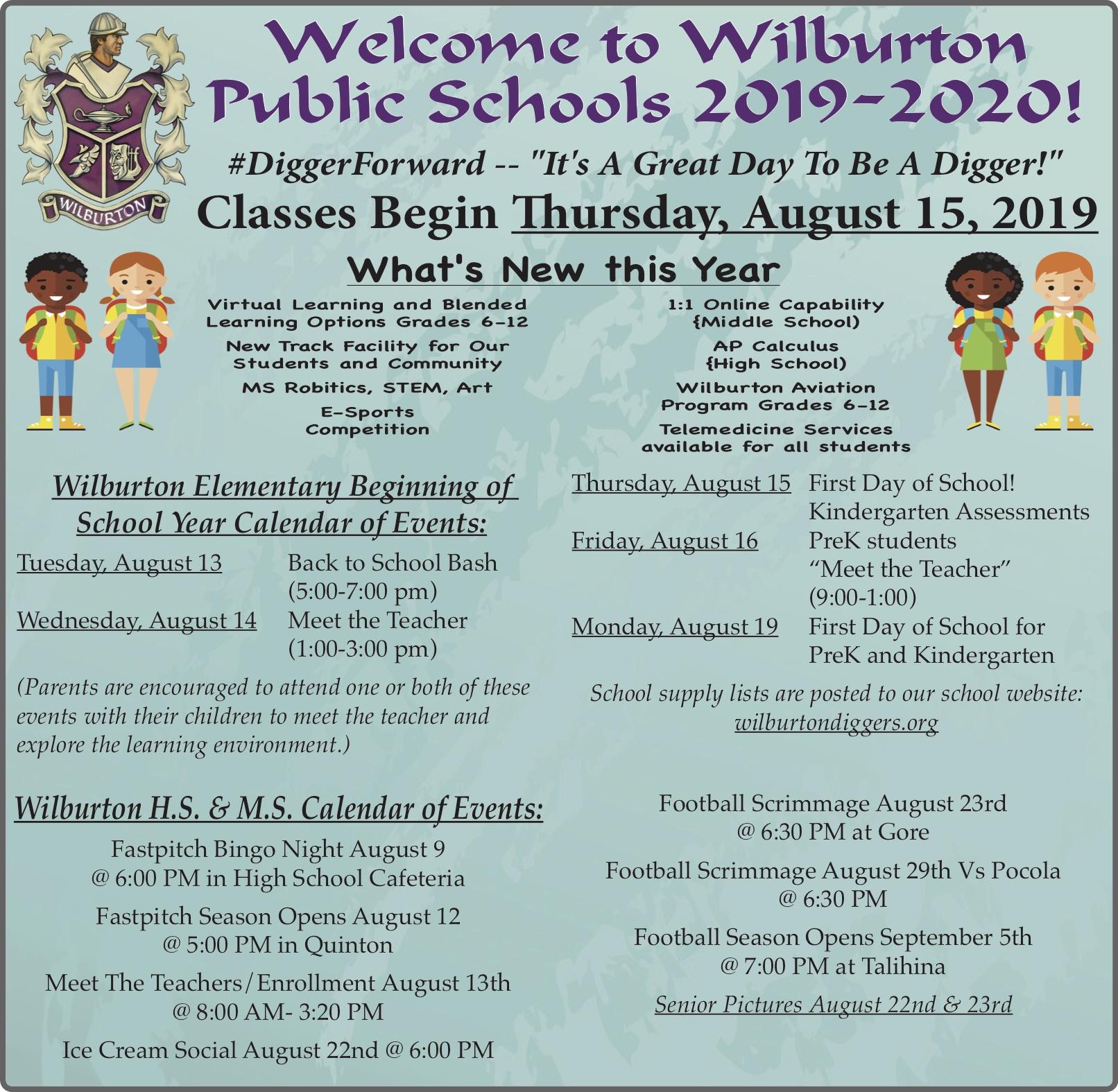 Welcome 2019-2020 — WilburtonDiggers org